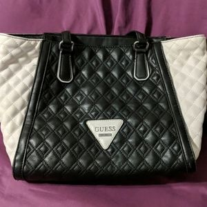 Guess Black and White Bag